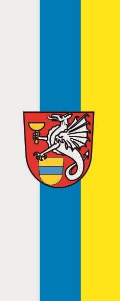Flagge Blaibach im Hochformat