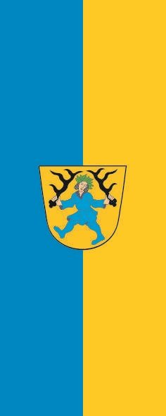 Flagge Blaubeuren im Hochformat