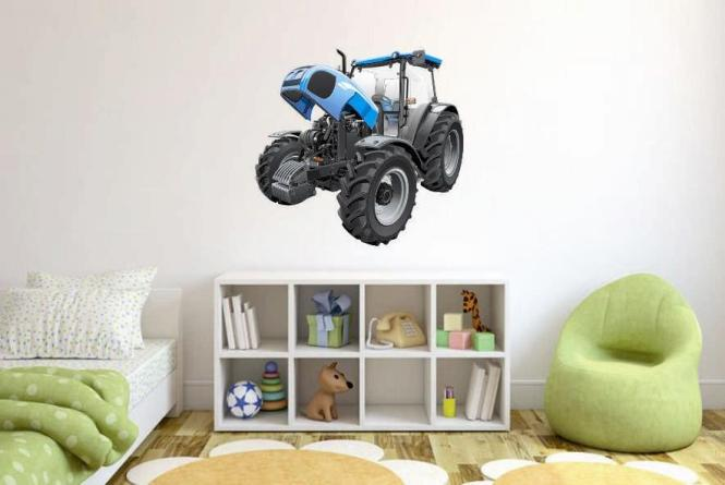Wandtattoo blauer traktor for Traktor wandtattoo