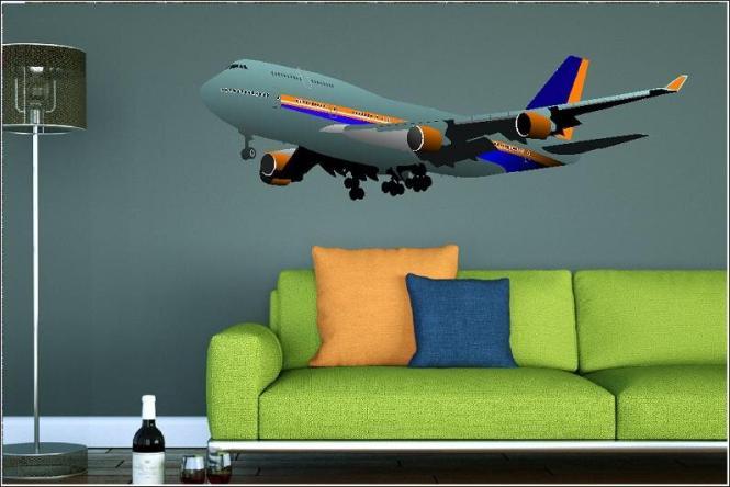 Wandtattoo Boeing 747 Color Motiv Nr. 2