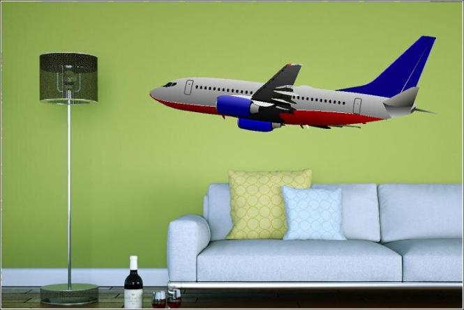 Wandtattoo Boeing 737-300 Color