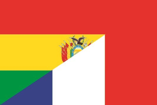 Flagge Bolivien - Frankreich