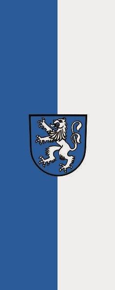 Flagge Bonndorf im Schwarzwald im Hochformat