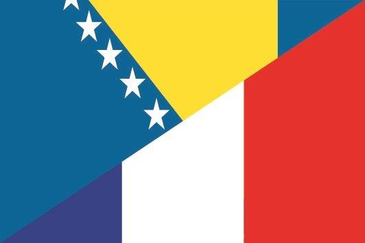 Flagge Bosnien-Herzegowina - Frankreich