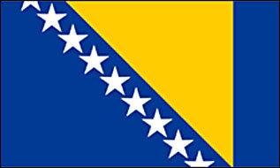 Aufkleber Bosnien Herzegowina 12 x 8 cm
