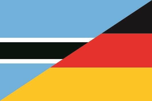 Flagge Botswana - Deutschland