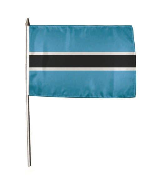 Stockflagge Botswana 30 x 45 cm