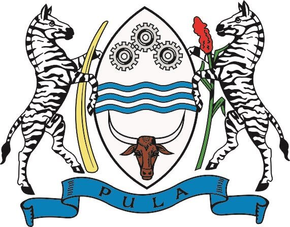Aufkleber Botswana Wappen