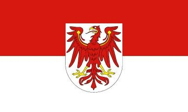 Fahne Brandenburg mit Hohlsaum 90 x 150 cm