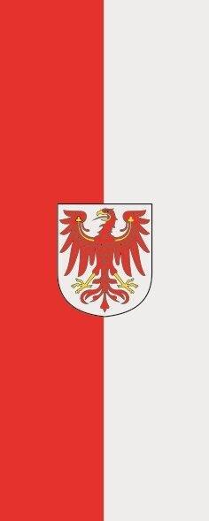 Flagge Brandenburg im Hochformat