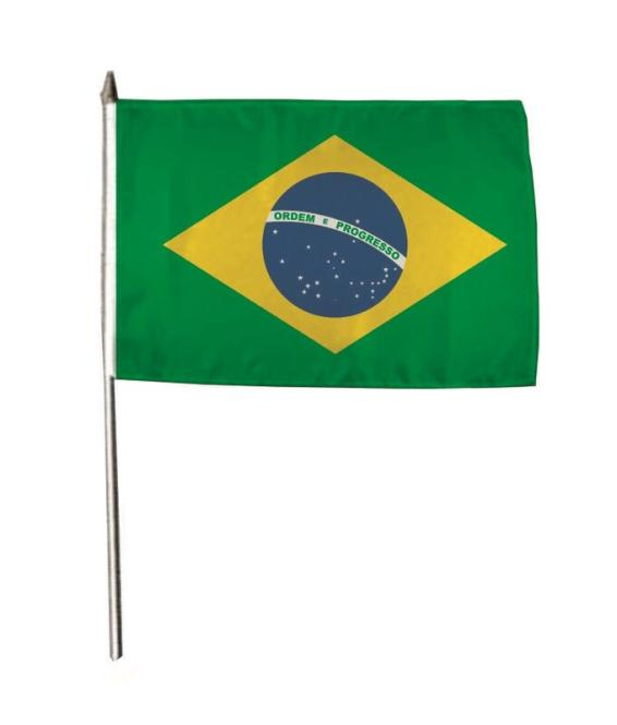 Stockflagge Brasilien 30 x 45 cm
