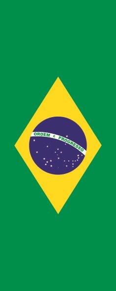 Flagge Brasilien im Hochformat