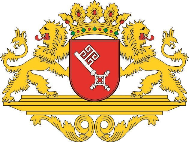 Aufkleber Bremen mittleres Wappen