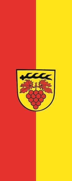 Flagge Bretzfeld im Hochformat