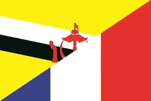 Flagge Brunei - Frankreich