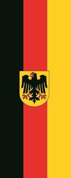 Flagge Deutschland Bundesdienst im Hochformat