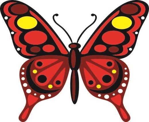 Aufkleber Bunter Schmetterling Motiv Nr. 9