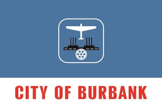 Flagge Burbank City Kalifornien