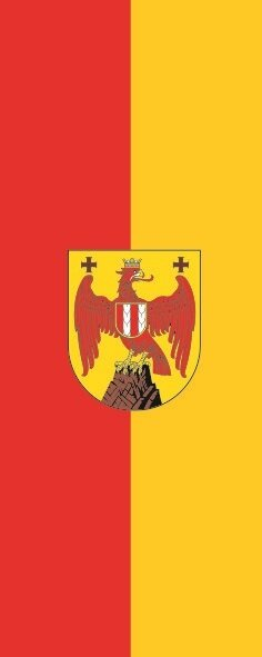 Flagge Burgenland im Hochformat