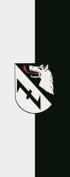 Flagge Burgwedel im Hochformat