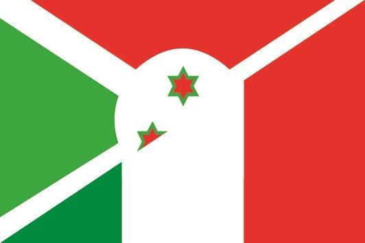 Flagge Burundi - Italien
