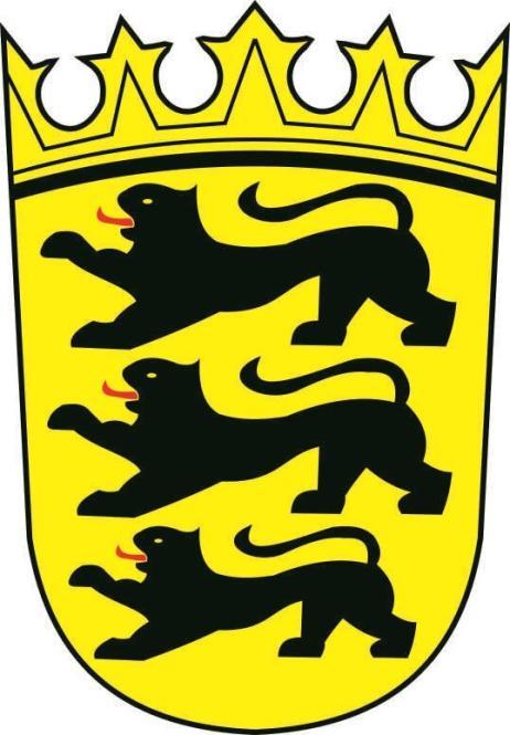 Aufkleber Baden - Württemberg Wappen