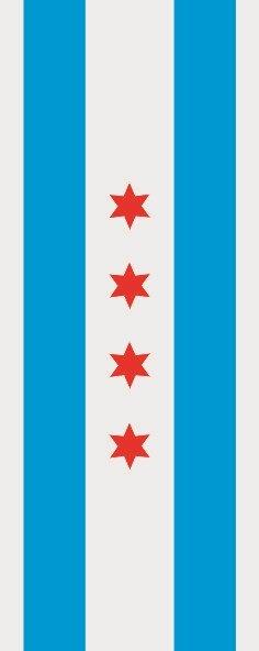 Flagge Chicago im Hochformat