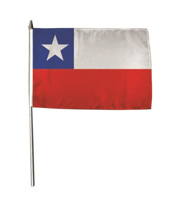 Stockflagge Chile 30 x 45 cm