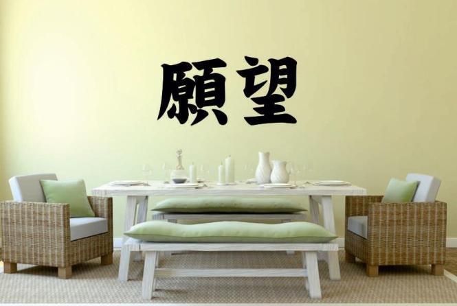 Wandtattoo Sehnsucht Chinesisches Schriftzeichen