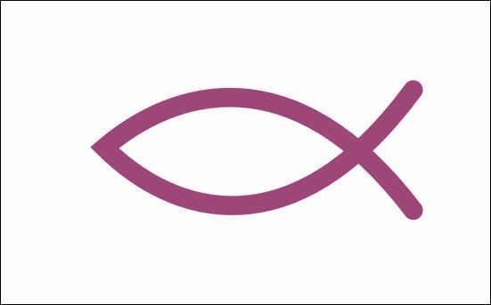 Flagge Christenfisch Christen Fisch