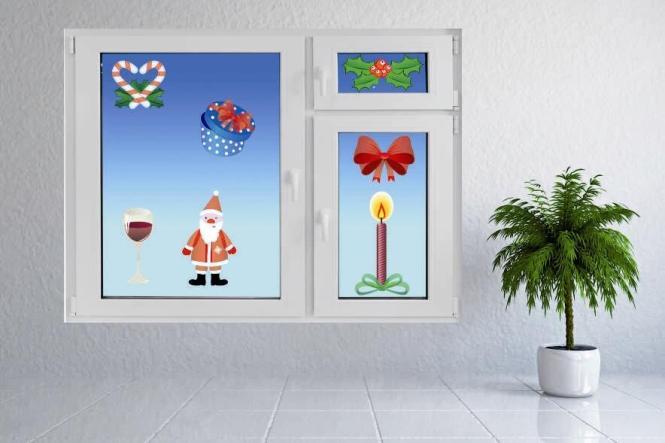 Fenstertattoo Christmas Set 2