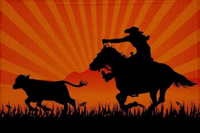 Aufnäher Cowboy und Indianer Motiv Nr. 17 Patch 9 x 6 cm