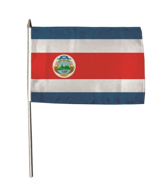 Stockflagge Costa Rica 30 x 45 cm