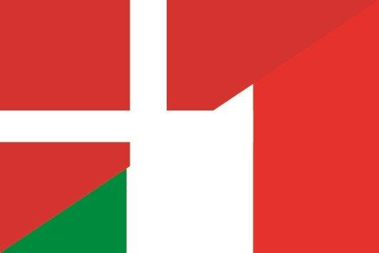 Aufkleber Dänemark-Italien