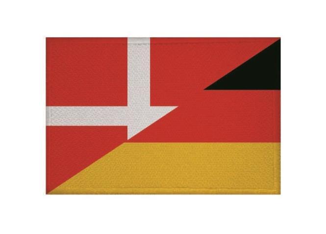 Aufnäher Patch Dänemark - Deutschland  9 x 6 cm