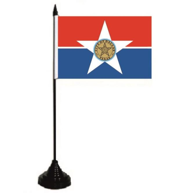 Tischflagge Dallas 10 x 15 cm