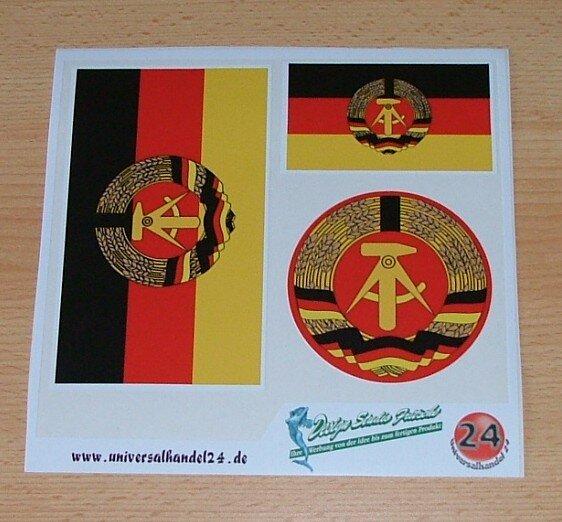 Aufkleberbogen DDR