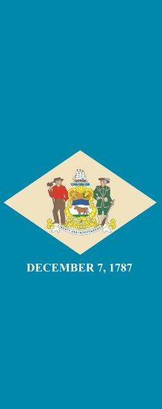 Flagge Delaware im Hochformat