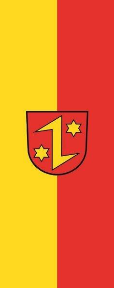 Flagge Detttingen an der Ems im Hochformat