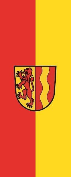 Flagge Detttingen an der Iller im Hochformat