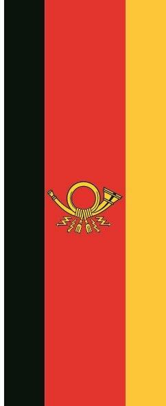 Flagge Deutsche Post im Hochformat