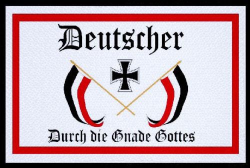 Aufnäher Patch Deutscher durch die Gnade Gottes 9 x 6 cm