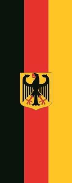 Flagge Deutschland Adler im Hochformat