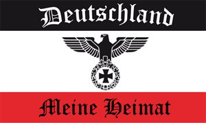 Fahne Deutschland Adler meine Heimat 90 x 150 cm