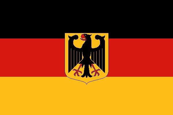 Fahne Deutschland mit Adler 90 x 150 cm