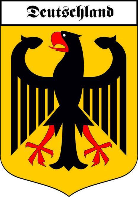 Aufkleber Deutschland Adler Wappen
