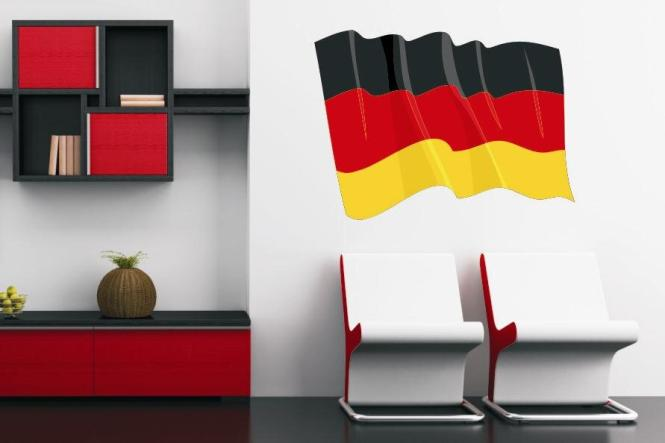 wandtattoo wehende flagge deutschland. Black Bedroom Furniture Sets. Home Design Ideas