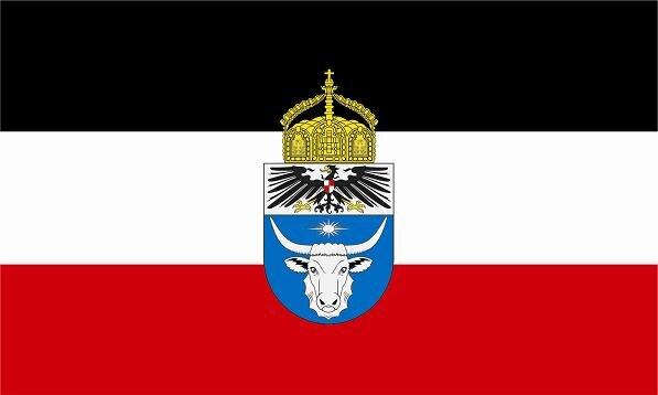 Flagge Deutsch Südwestafrika mit Krone