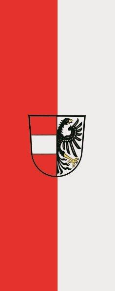 Flagge Dietenheim im Hochformat