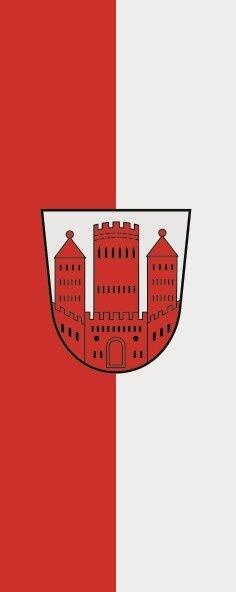 Flagge Dinslaken im Hochformat